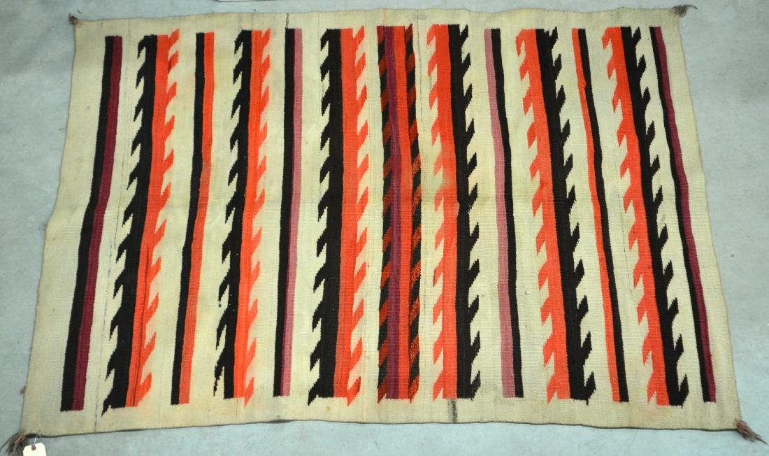 "Navajo Textile 79"" x 50"" Transitional Period w/"