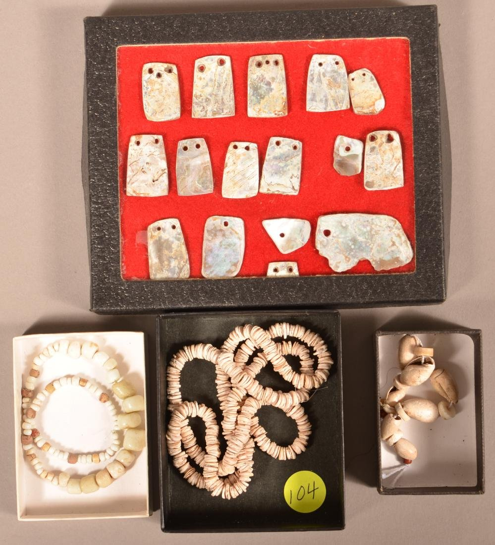 Collection of California Indian Ornaments, Shell Beads,