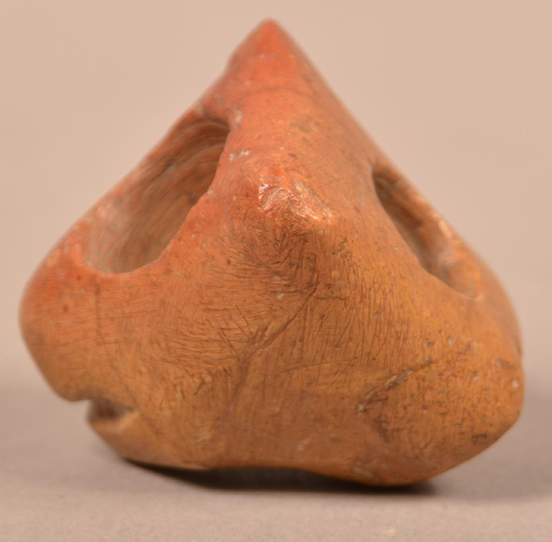 Stone Pipe Bowl in the Form of an Animal Head - 2