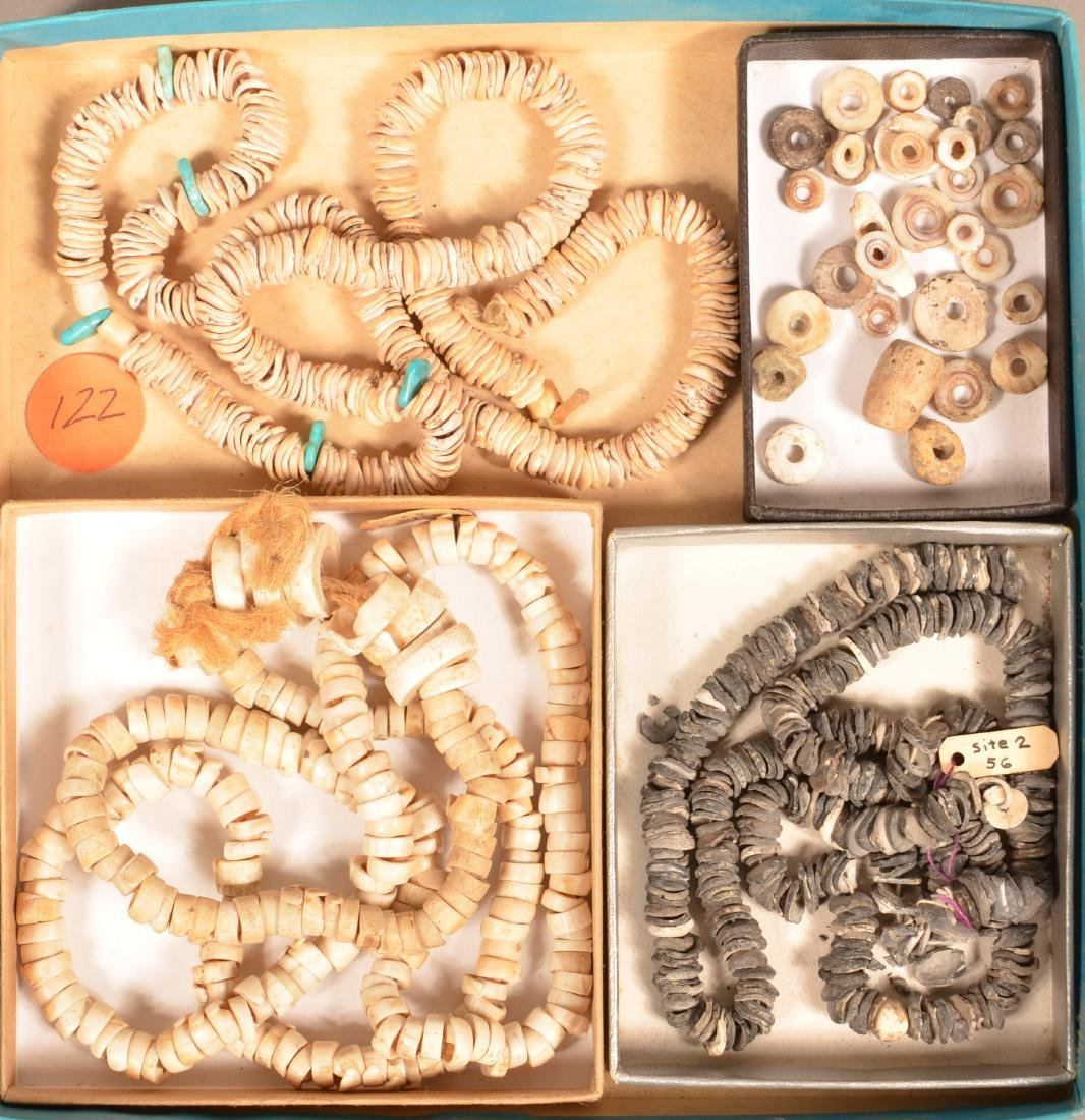 Collection of Ancient Shell Beads, 3 Strands and