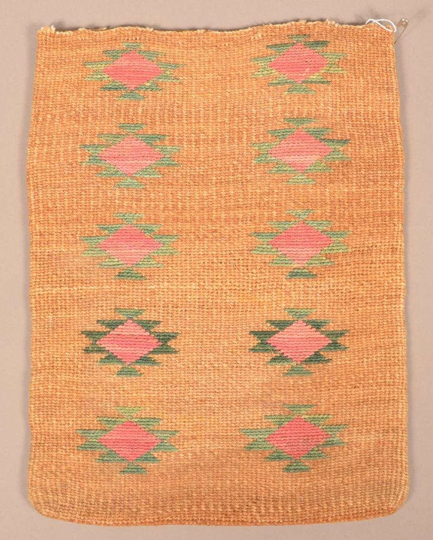 Antique Nez Perce Twined Cornhusk Flat Bag - 2