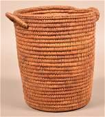 "Antique Jicarilla Apache Coiled Basket 9 1/2"" x 8"" w/ 2"