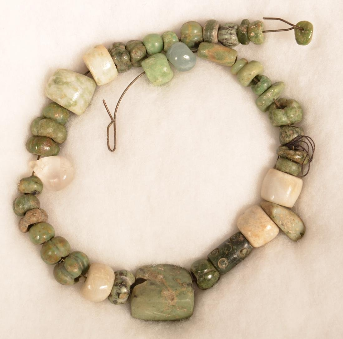 Group of Precolumbian, Meso American Green Stone and