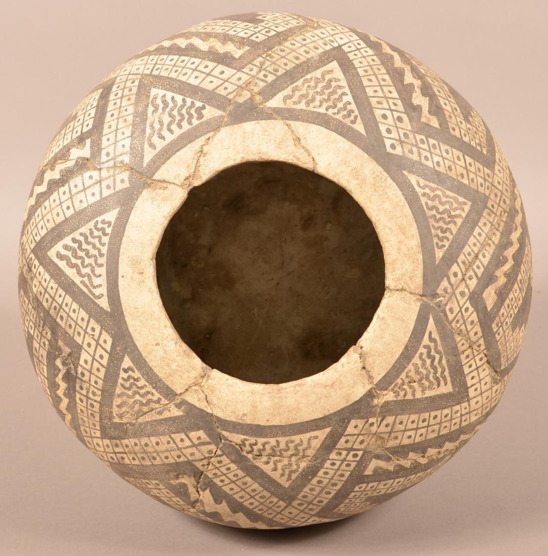 Large Anasazi Style Pot, Cracked and Expertly Mended - - 3