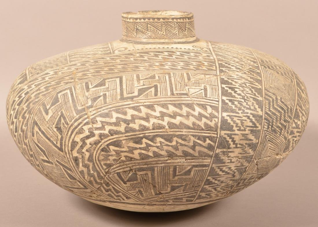 Large Highly Decorated Tullarosa Style Pottery Vessel, - 2