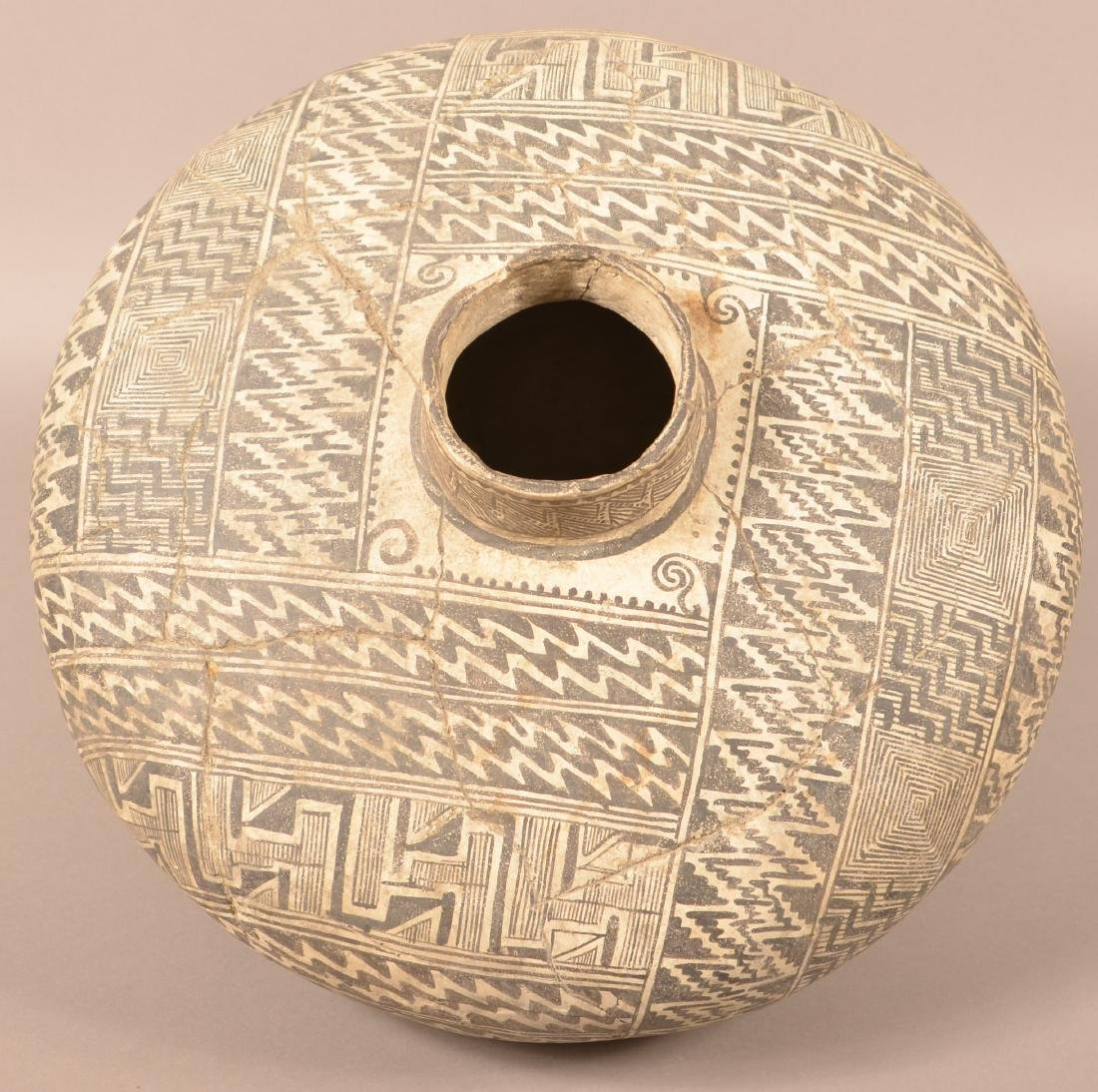 Large Highly Decorated Tullarosa Style Pottery Vessel, - 3