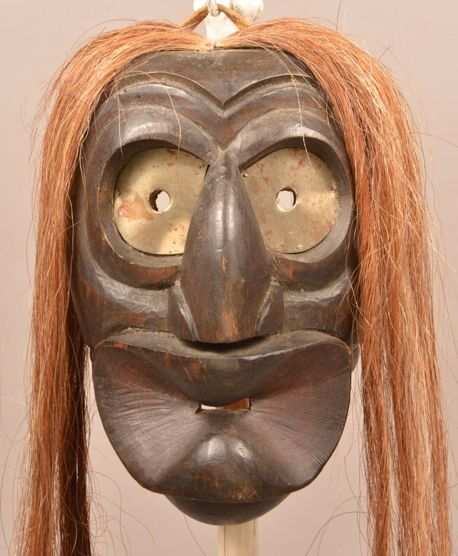 """Mid 20th Cent. Iroquois Mask """"Spoon Mouth"""" Type"""