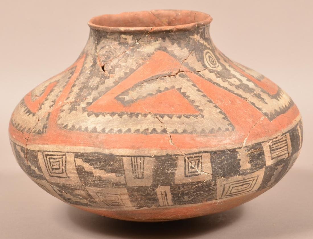 "Large Prehistoric Pottery Jar ""Four Mile Polychrome"""