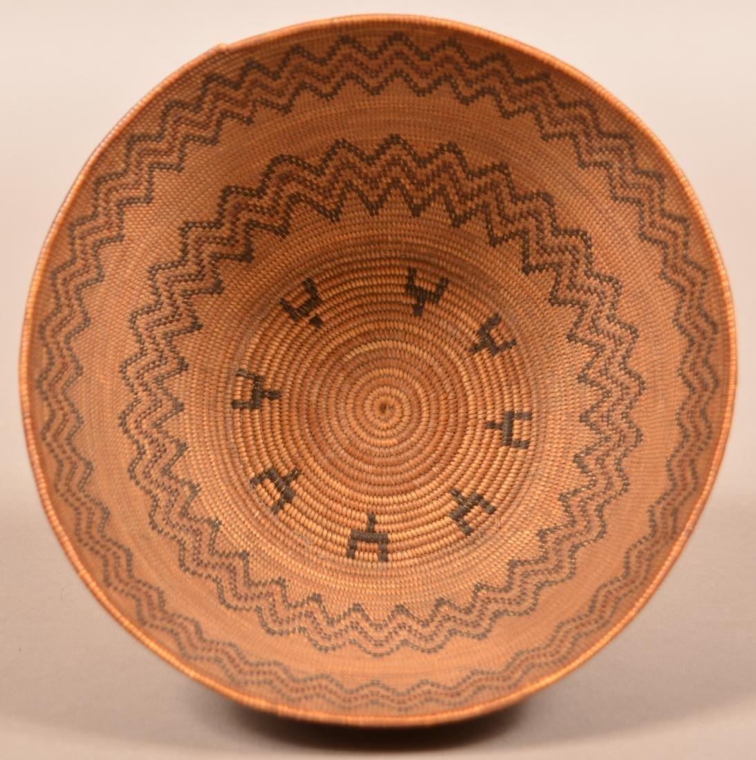 "Fine California Indian Basket 4"" x 8 1/4"" w/ Double - 2"