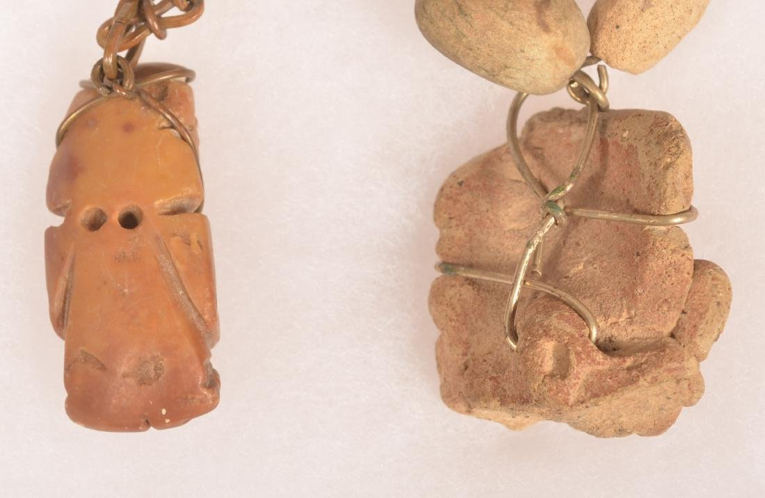 3 Necklaces - 1950's Mexican Necklace Strung w/ Ancient - 3
