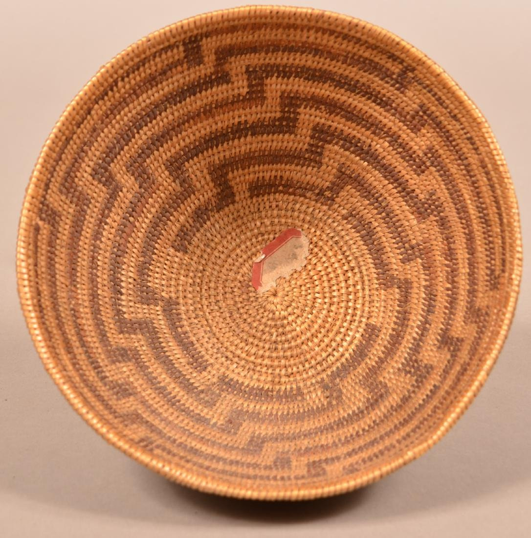 California Indian Basket w/ Staggered Fretwork Design - 2