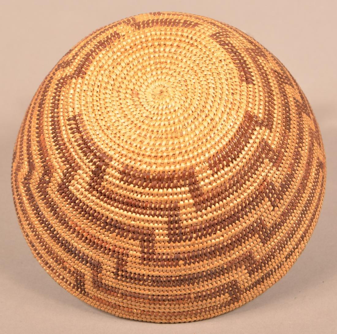 California Indian Basket w/ Staggered Fretwork Design - 3