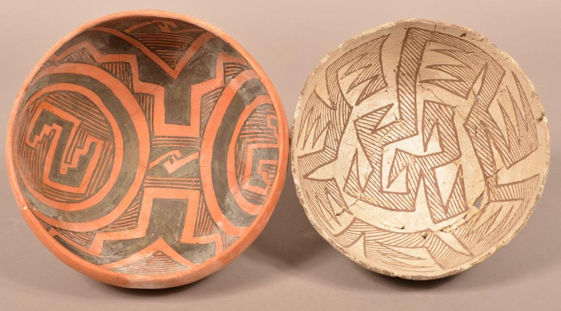 2 Restored Prehistoric South Western Pottery Bowls,