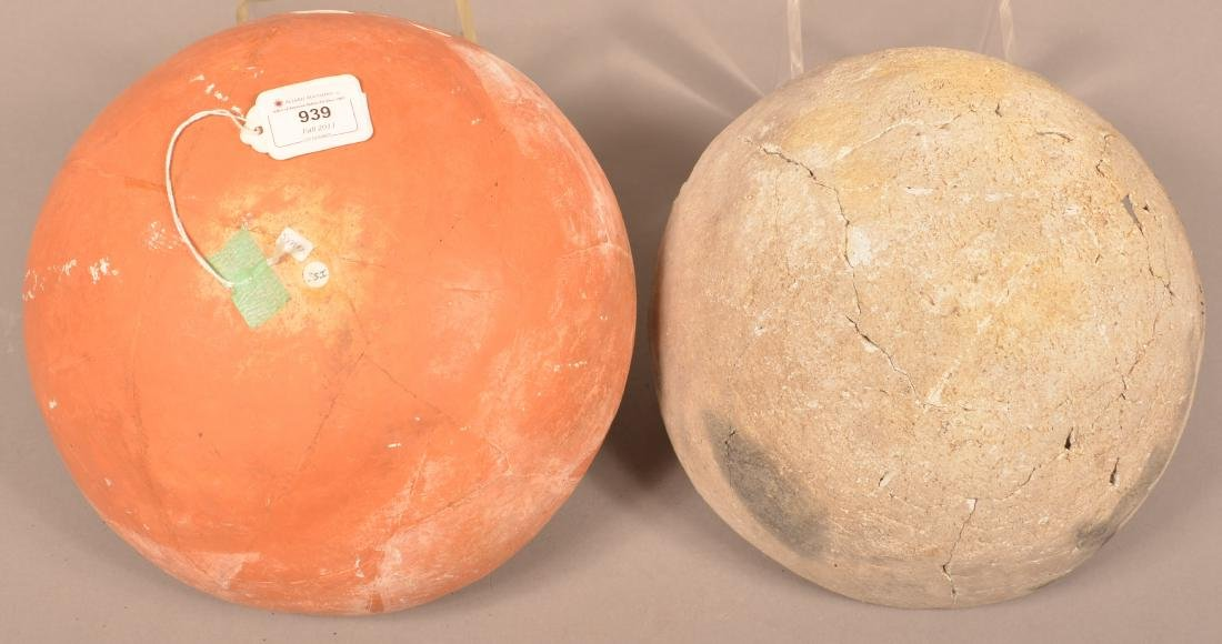 2 Restored Prehistoric South Western Pottery Bowls, - 2