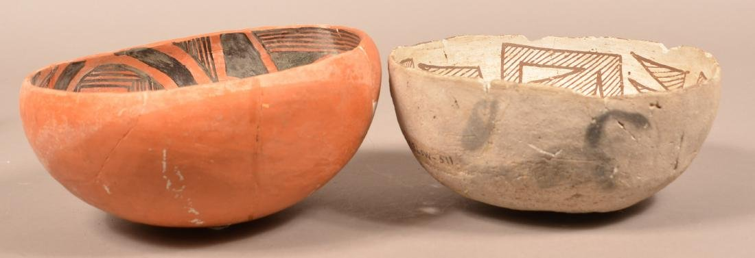 2 Restored Prehistoric South Western Pottery Bowls, - 3