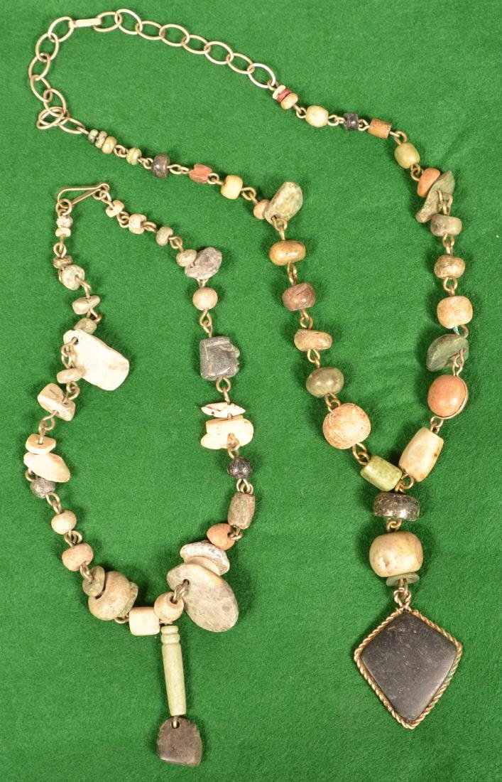 2 1940's Mexican Artisan Crafted Necklaces Using