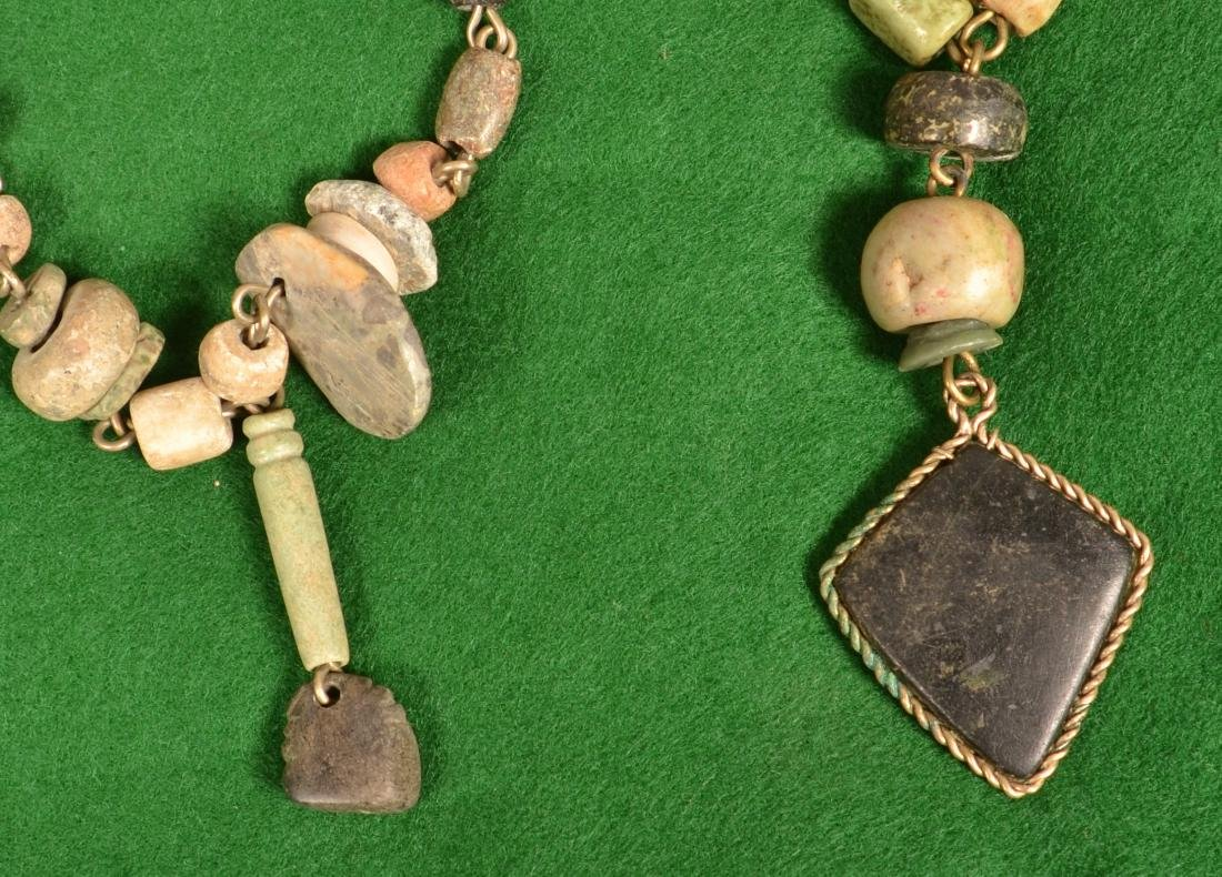 2 1940's Mexican Artisan Crafted Necklaces Using - 2