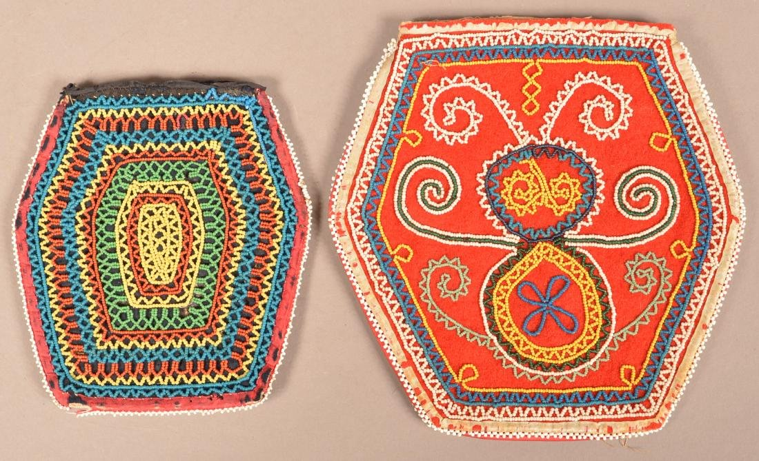 2 Mid 19th Cent. Beaded Purses - Northeastern Types