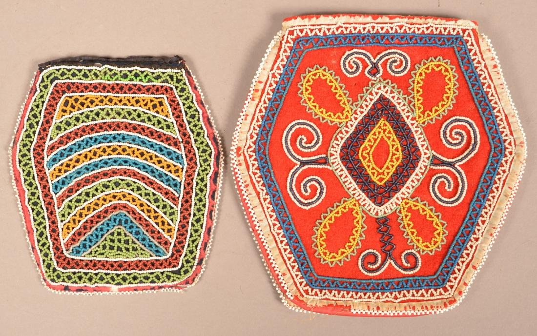 2 Mid 19th Cent. Beaded Purses - Northeastern Types - 2