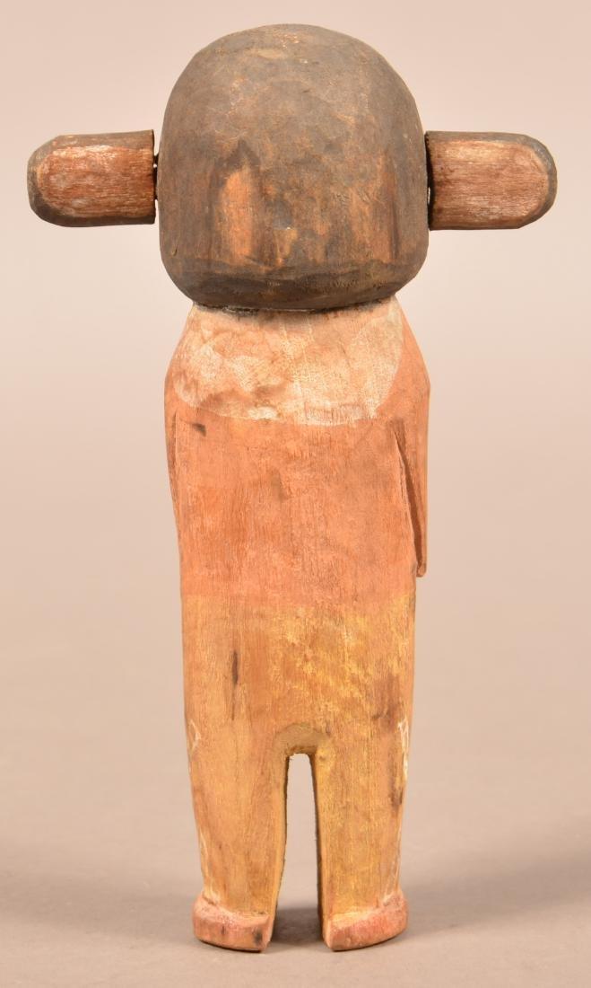 """Old Hopi Indian, Cottonwood Root Carved """"Katsina"""" - 2"""