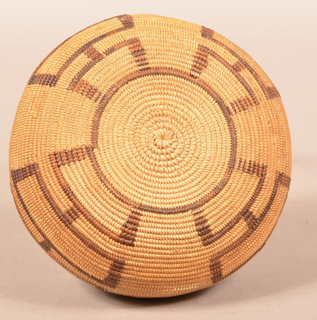 "Antique California Coiled Basket 7"" x 3 1/2"" - 3"