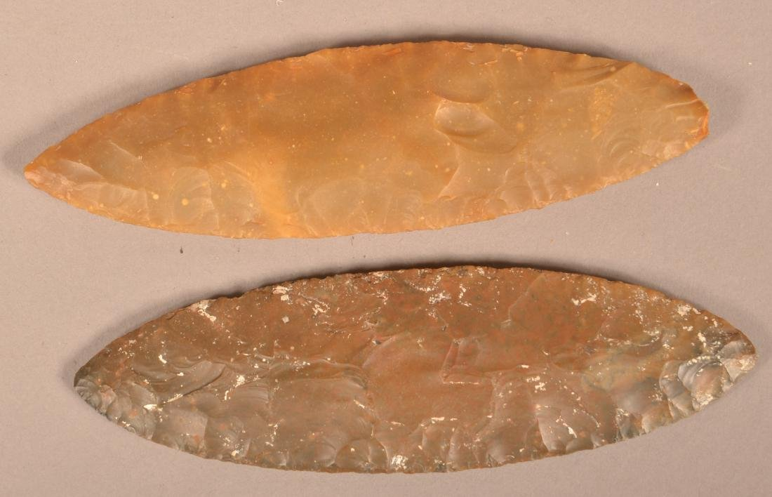 "2 Ancient Flint Blades 6"" x 2"" x 1 3/4"" from the - 2"