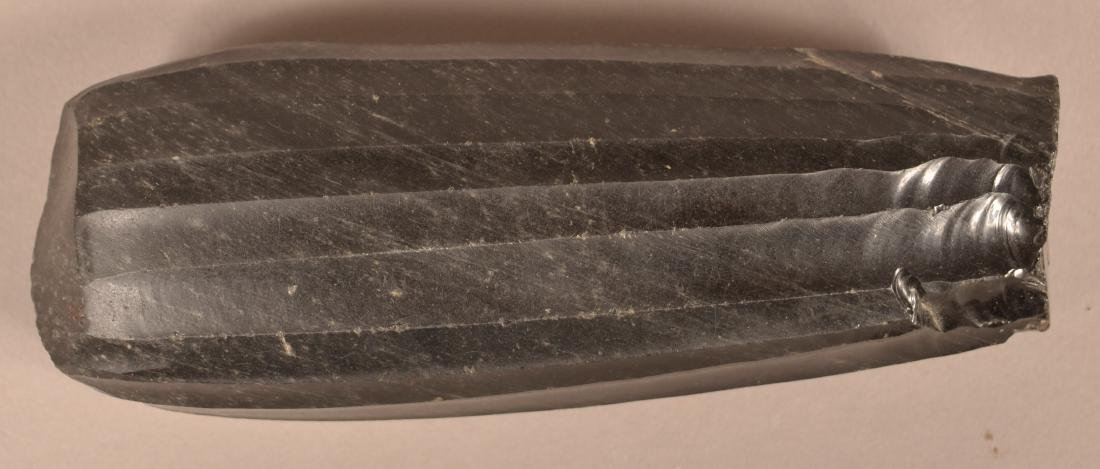 Large Ancient Obsidian Core Showing Presise Long Flake - 2