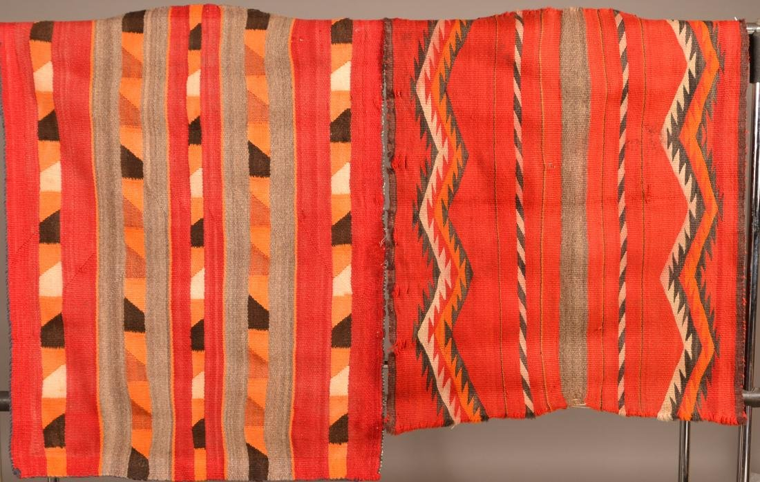 "2 Old Navaho Textiles - 30"" x 26"", 35"" x 28"" These"