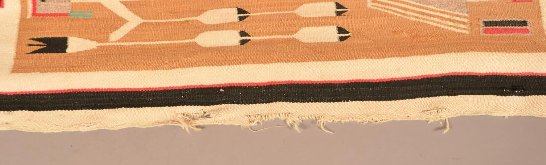 "Large Sized Vintage Navaho Rug 98"" x 48"" w/ a Design of - 3"