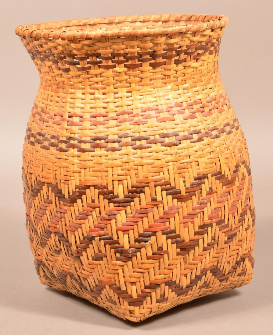 "Vintage Cherokee River Cane Basket 14"" x 10"""