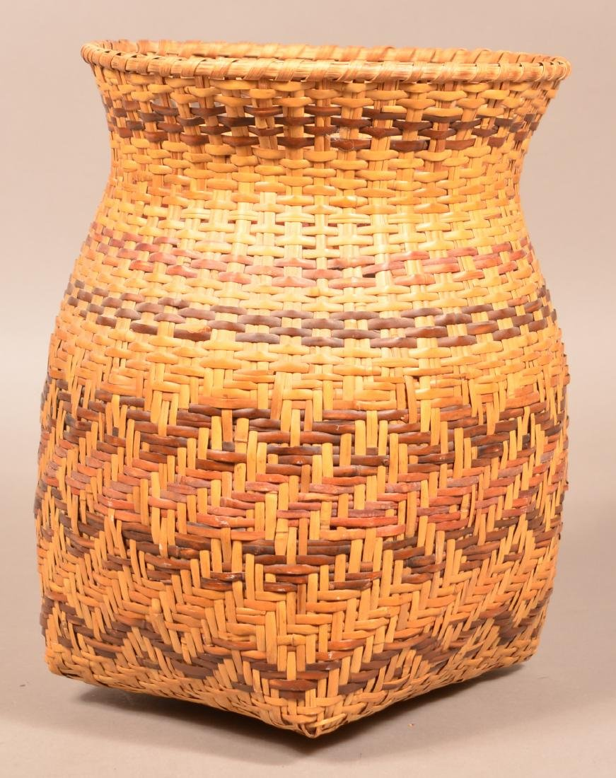"Vintage Cherokee River Cane Basket 14"" x 10"" - 2"