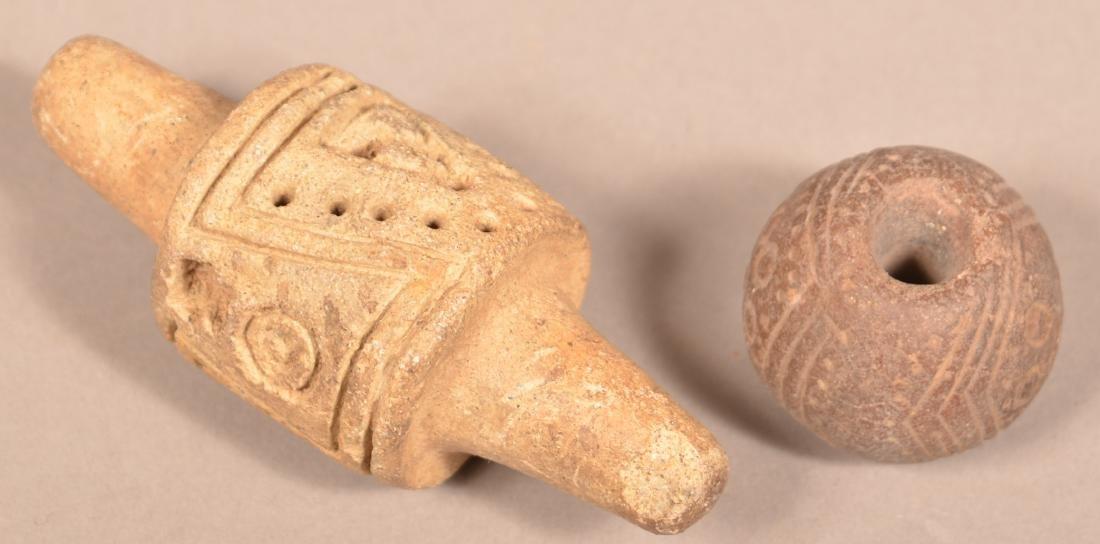 Grop of Meso American Artifacts - Stirrup Handled Mano - 2