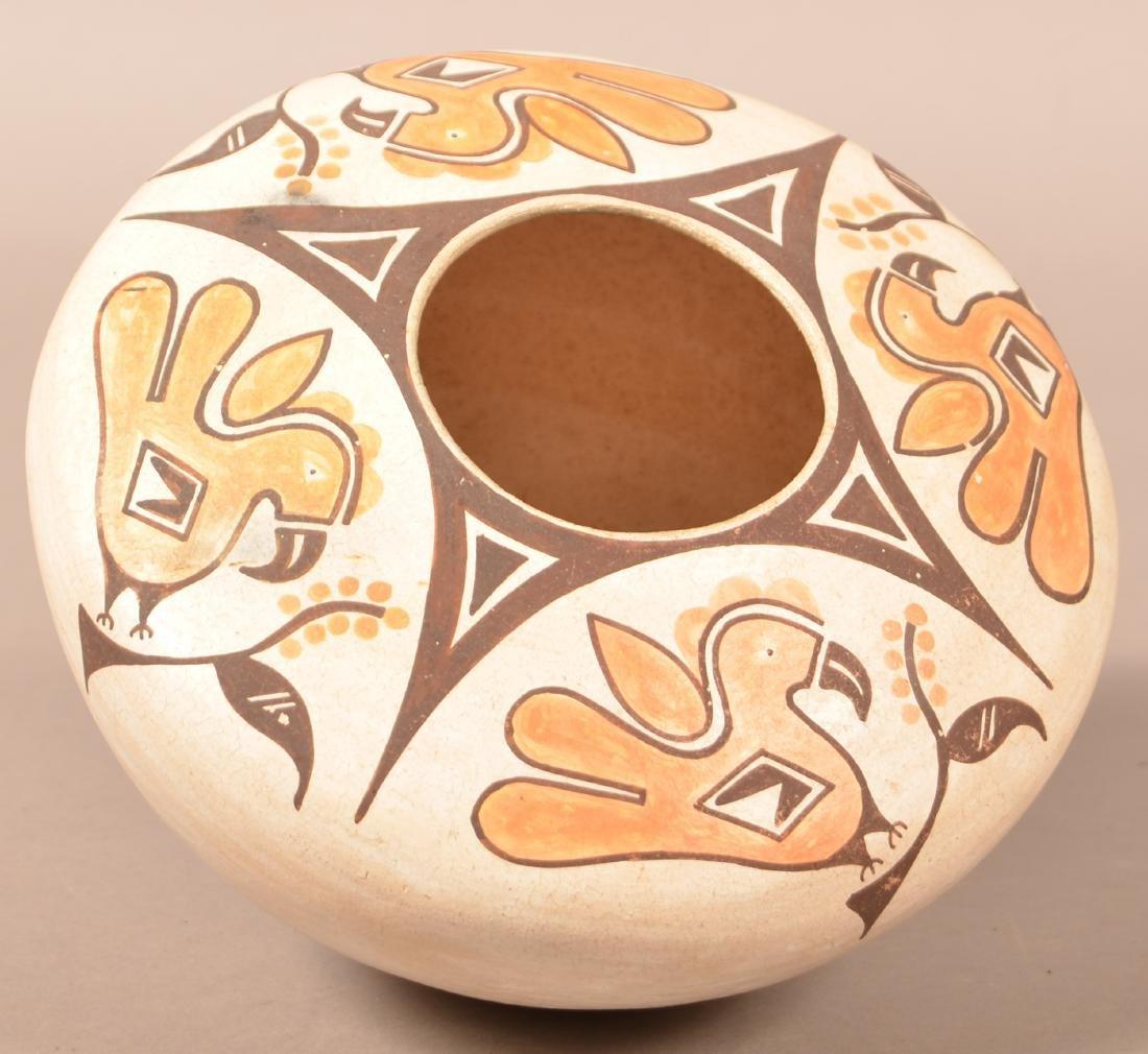 """Vintage Acoma Pueblo Jar 8 1/2"""" Dia. 5"""" Tall, Stylized"""