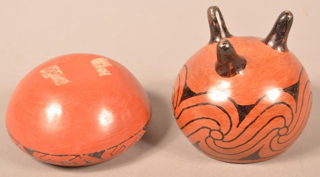 2 Vintage Maricopa Pottery Vessels, Tripod Base, - 2