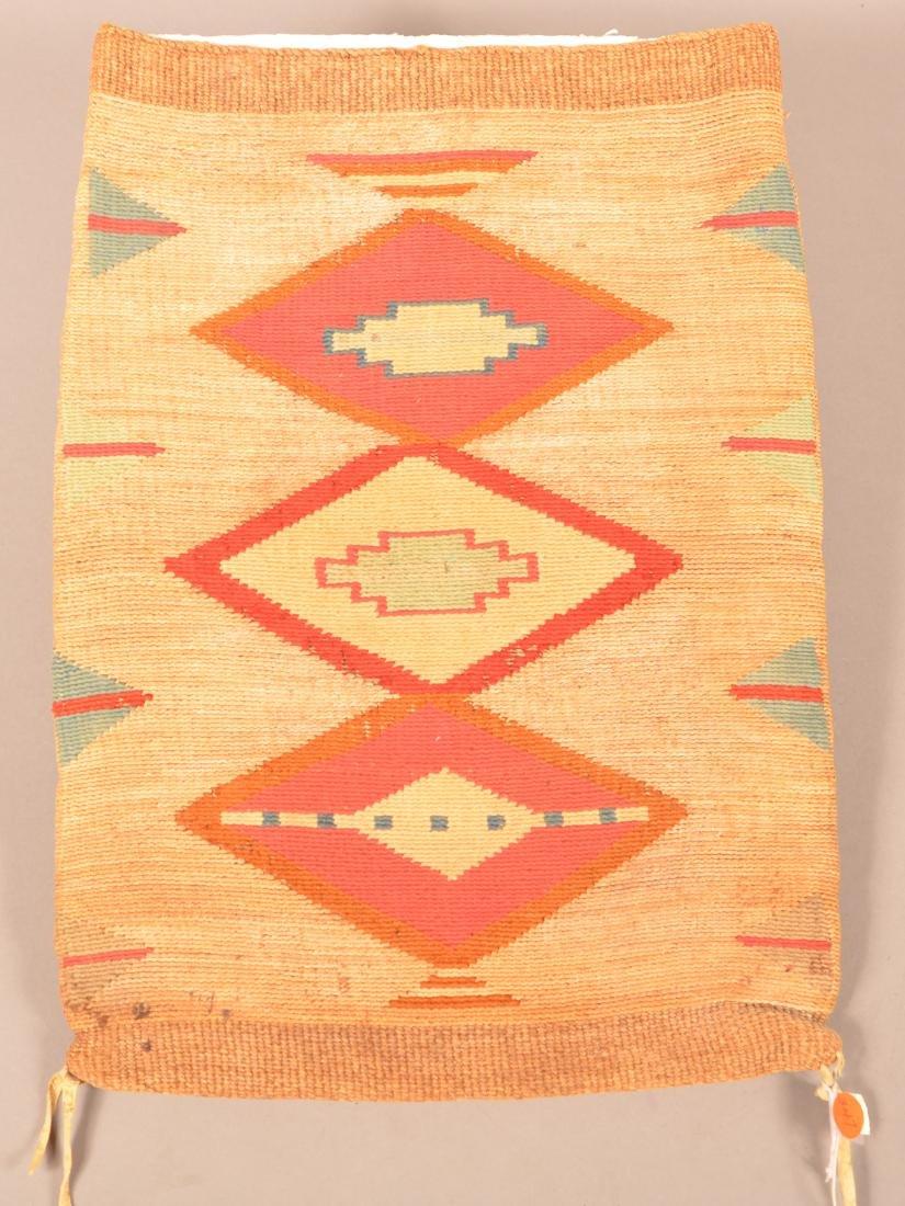 "Antique Nez Perce Twined Cornhusk ""Flat Bag"" w/ Colored"