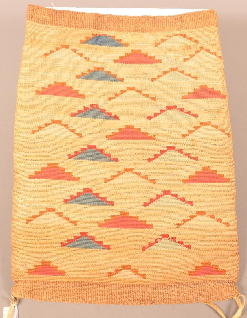 "Antique Nez Perce Twined Cornhusk ""Flat Bag"" w/ Colored - 2"