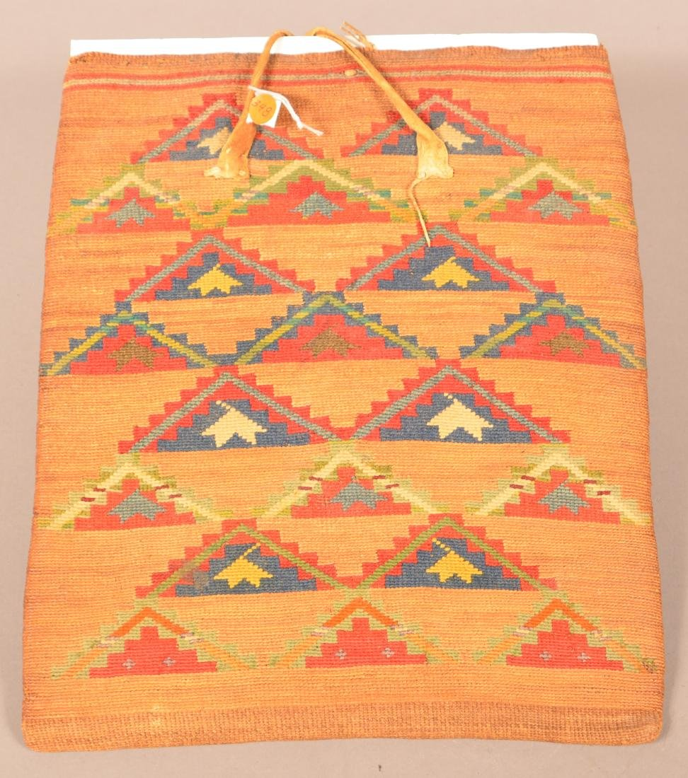 "Antique Nez Perce Twined Cornhusk ""Flat Bag"" w/ Bright"