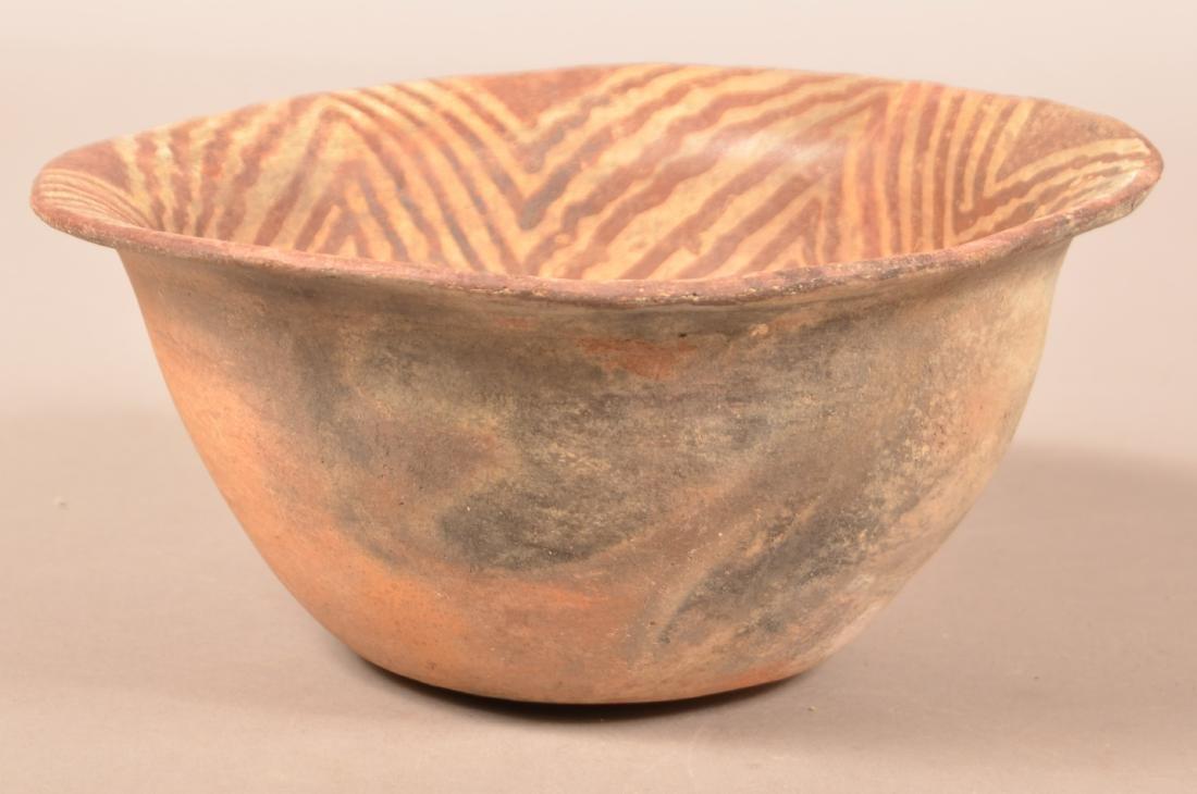 "Antique S.W Indian Bowl w/ Decorated Interior 9 1/2"" - 2"