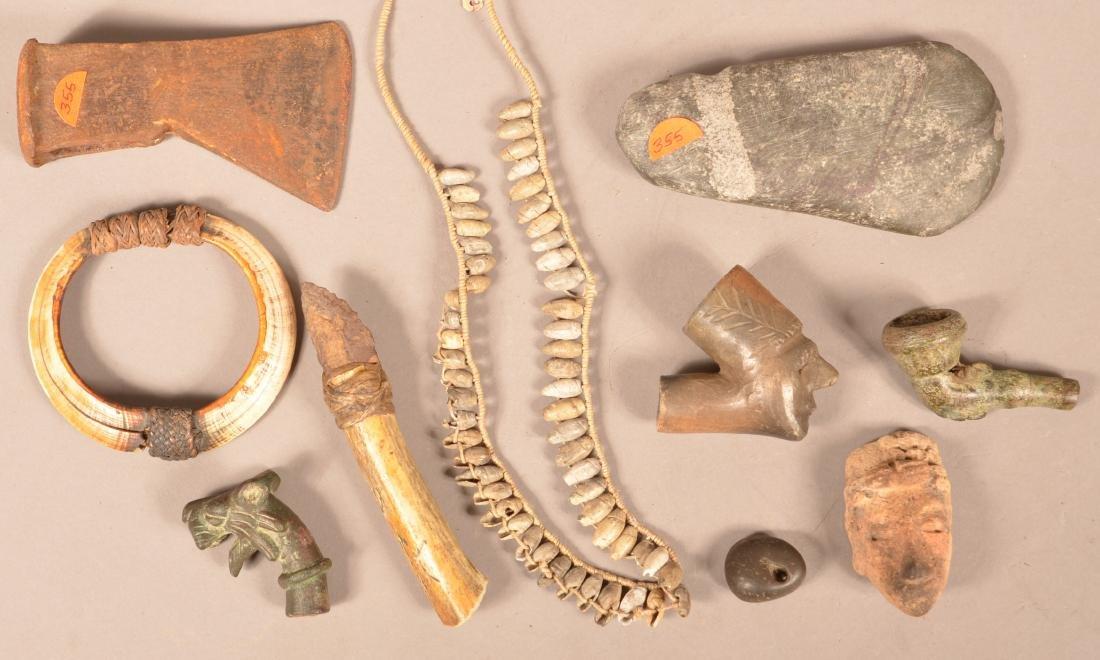 10 Antique Curios - Boar Tusk Bracelet, Bronze Pipe