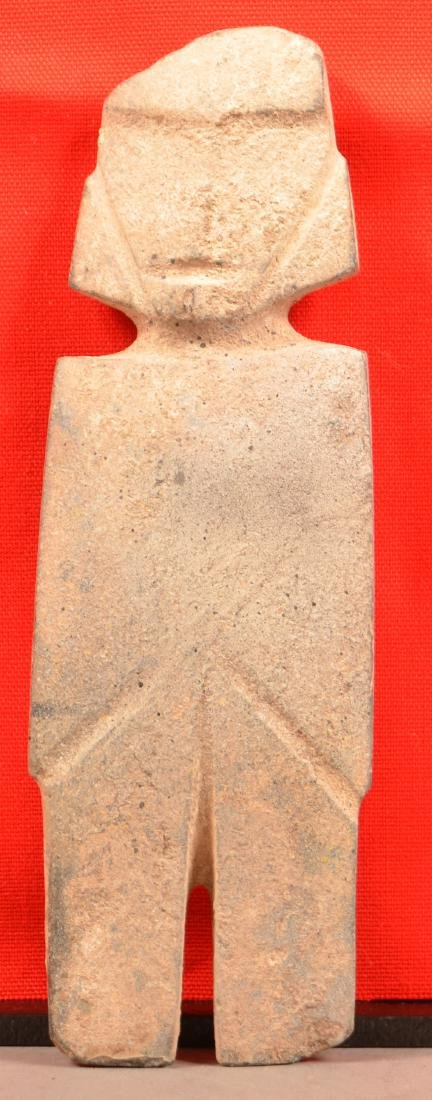 "Precolumbian Mezcala ""String Cut"" Figurine 8 1/4"" x 2"