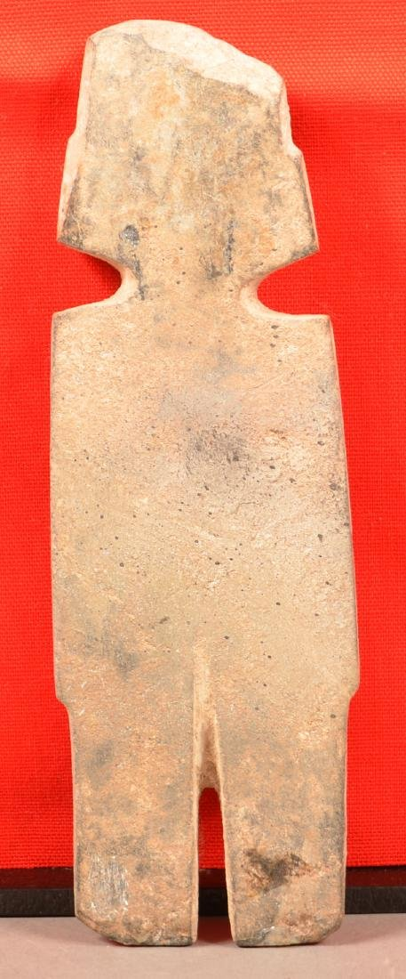 "Precolumbian Mezcala ""String Cut"" Figurine 8 1/4"" x 2 - 2"