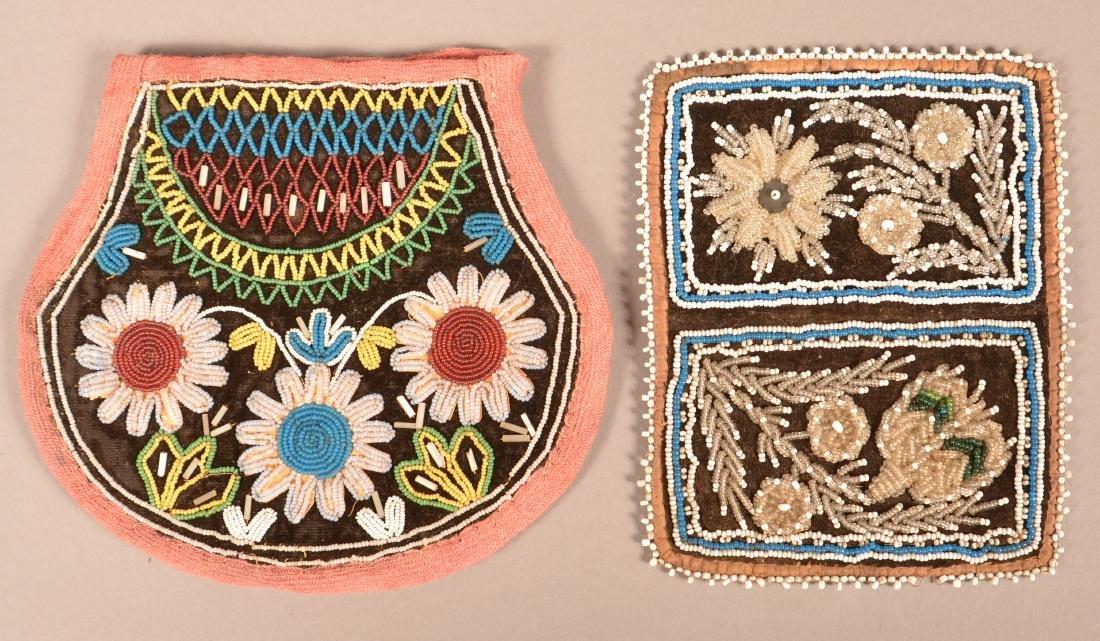 2 Mid 19th Cent. Iroquois Beaded Items - Rectangular