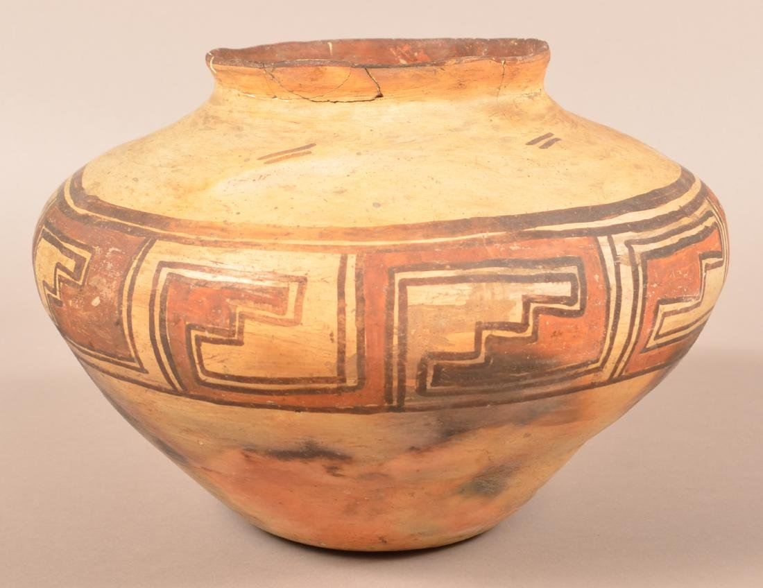 "Early Pueblo Pottery Jar, 13 1/2"" Dia, 9 1/4"" Tall-"