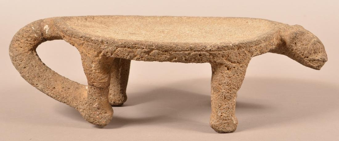 Precolumbian, Costa Rican Figural Metate, Tail Section