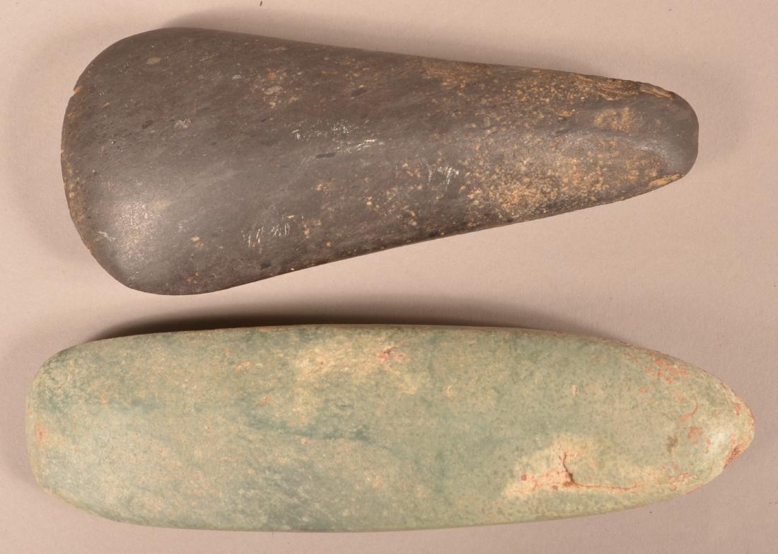 "2 Precolumbian, Meso American Celts, 8""x3"" Back Stone,"