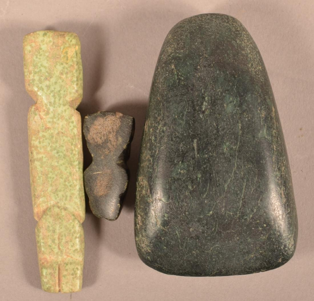 Meso American Artifacts - Polished Celt, Nephrite - 2