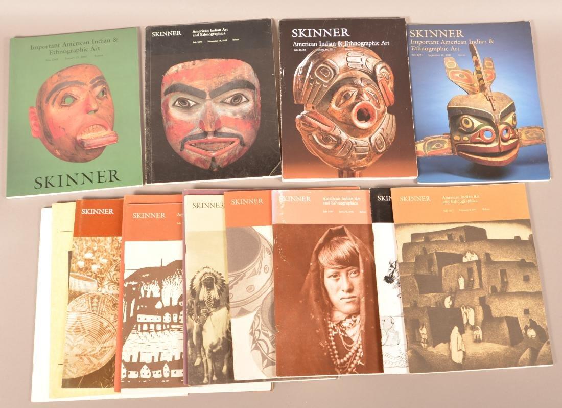 "14 Americna Indian Art Sales Catalogs ""Skinner"" A-1"