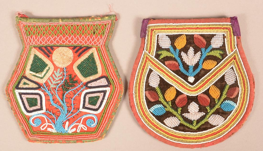 2 19th Cent. Iroquois Beaded Bags - 2