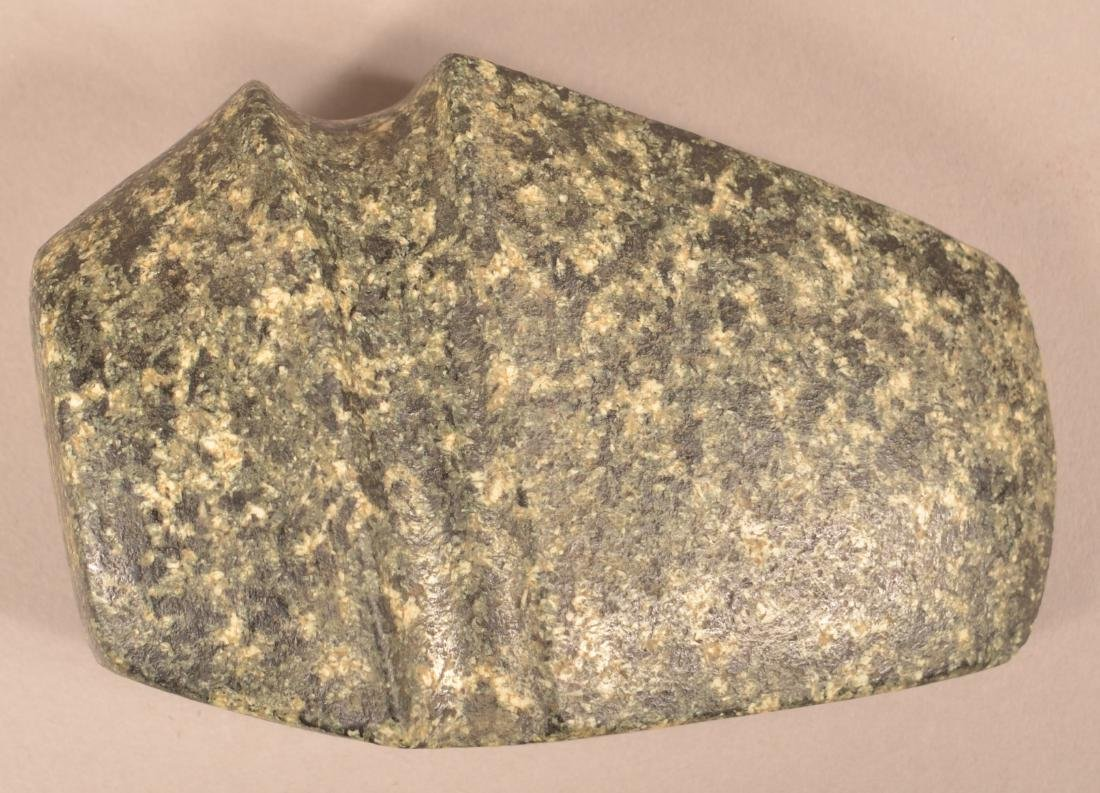 """Midwestern Stone Axe Head From Lee Cp. Iowa - 6"""" x 3"""
