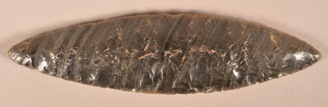 Precolombian Obsidian, Bi-Pointed Blade From The Valley